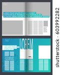 modern magazine layout template | Shutterstock .eps vector #603992282