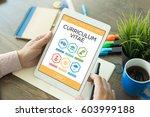 curriculum vitae graduation... | Shutterstock . vector #603999188