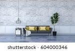 modern loft  interior black... | Shutterstock . vector #604000346