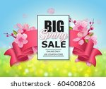 Spring Sale Colorful Banner...