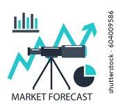 market forecast. investment...   Shutterstock .eps vector #604009586