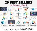 best vector circle infographics ... | Shutterstock .eps vector #604009946