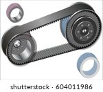 belt drive mechanism | Shutterstock .eps vector #604011986