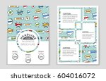 abstract vector layout... | Shutterstock .eps vector #604016072