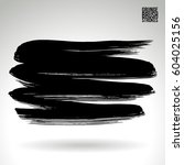 brush stroke and texture.... | Shutterstock .eps vector #604025156