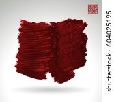 brush stroke and texture.... | Shutterstock .eps vector #604025195