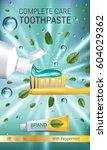 antibacterial toothpaste ads....   Shutterstock .eps vector #604029362