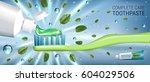 antibacterial toothpaste ads.... | Shutterstock .eps vector #604029506