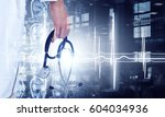 modern medicine cardiology...   Shutterstock . vector #604034936