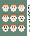 man with ginger hair expressing ... | Shutterstock .eps vector #604036766