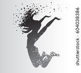 sport fitness typographic... | Shutterstock .eps vector #604038386