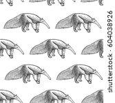 giant anteater. seamless...