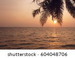 Coconut Palm Tree Silhouette...