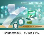 professional whitening stripes... | Shutterstock .eps vector #604051442
