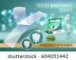 professional whitening stripes... | Shutterstock .eps vector #604051442