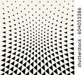 geometric triangle halftone... | Shutterstock .eps vector #604053386
