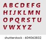 alphabet  | Shutterstock .eps vector #604063832