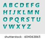 alphabet  | Shutterstock .eps vector #604063865