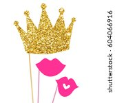 photo booth props vector | Shutterstock .eps vector #604066916