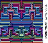 vector seamless pattern ... | Shutterstock .eps vector #604070816
