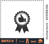 banner ribbon thumb up icon... | Shutterstock . vector #604088186