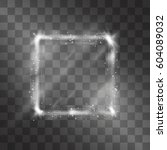 light effect of silver square... | Shutterstock .eps vector #604089032