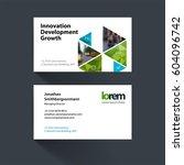 vector business card template... | Shutterstock .eps vector #604096742