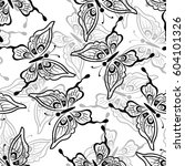 seamless pattern  symbolical... | Shutterstock . vector #604101326