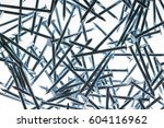 stack of carpentry metal nails... | Shutterstock . vector #604116962