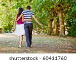 beautiful loving couple going... | Shutterstock . vector #60411760
