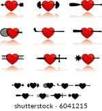 nine heart icons | Shutterstock .eps vector #6041215