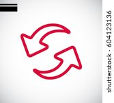 rotation arrow icon flat