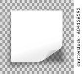 blank sheet of paper on... | Shutterstock .eps vector #604126592