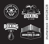 boxing club labels emblems... | Shutterstock .eps vector #604128128