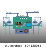 production process on the line... | Shutterstock .eps vector #604130066