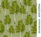 seamless pattern birch tree in...   Shutterstock .eps vector #604133966