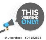 hand holding megaphone. speech... | Shutterstock .eps vector #604152836