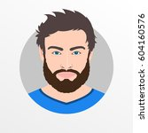 male avatar icon or portrait.... | Shutterstock .eps vector #604160576
