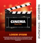movie poster or flyer template. ... | Shutterstock .eps vector #604160846