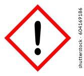 hazard pictogram caution sign. | Shutterstock .eps vector #604169186