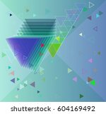 geometric art background | Shutterstock .eps vector #604169492