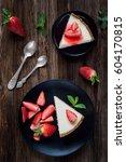 Strawberry Cheesecake On Black...