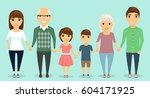 strong family. all family... | Shutterstock .eps vector #604171925