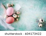 beautiful  fresh easter... | Shutterstock . vector #604173422
