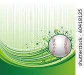 vector illustration of baseball ...   Shutterstock .eps vector #60418135