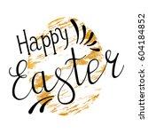 easter egg with handwritten... | Shutterstock .eps vector #604184852