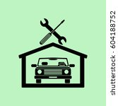 car in the garage icon ... | Shutterstock .eps vector #604188752