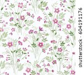 seamless floral pattern with... | Shutterstock .eps vector #604191176
