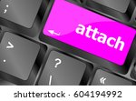 keyboard with enter button ... | Shutterstock . vector #604194992
