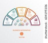 vector semicircle infographics... | Shutterstock .eps vector #604195106